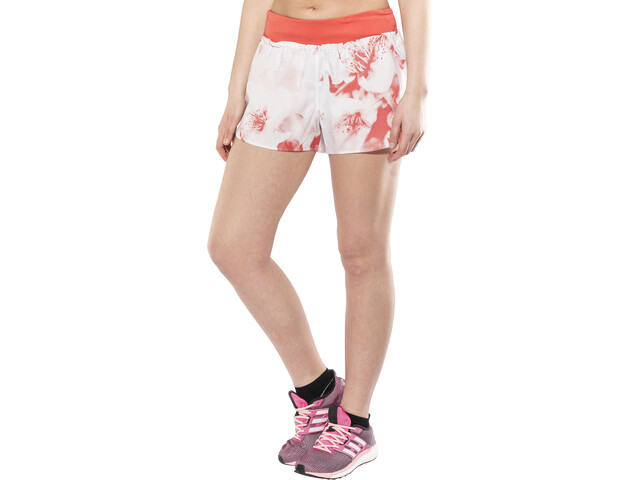 adidas Tokyo Short running Femme, crystal white/trasca